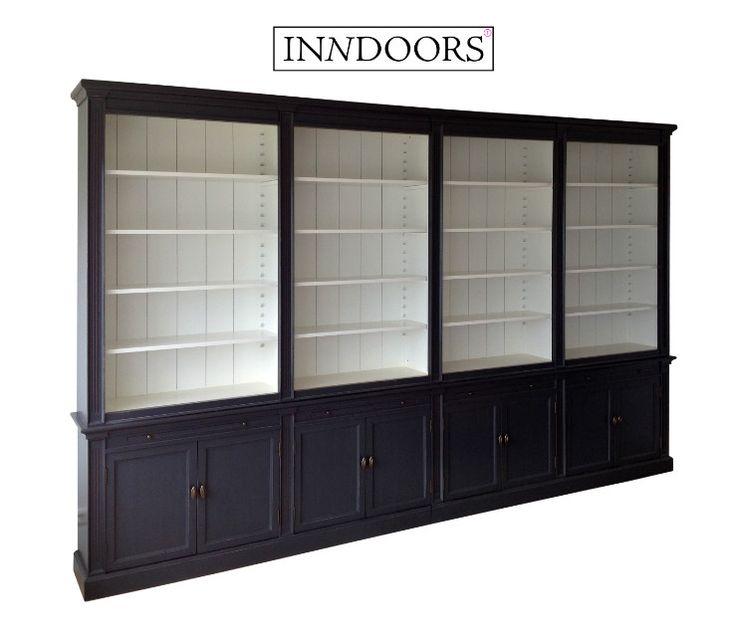 Landelijke Boekenkast 4 meter breed maatwerk - Inndoors Meubelen en Interieur