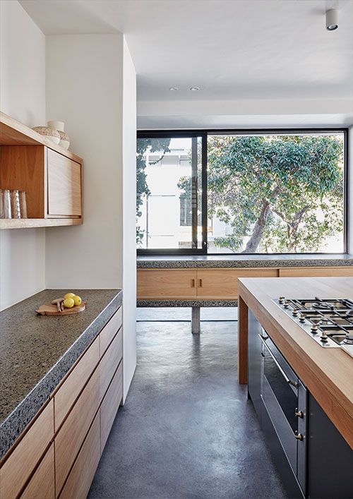 Brick and concrete house by Beattyvermeiren architects, South Africa, kitchen 02