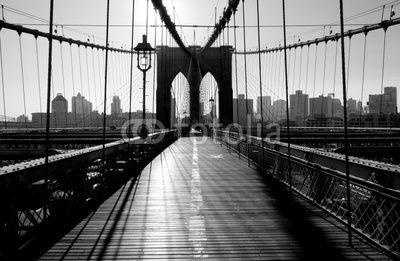 mata magnetyczna Brooklyn Bridge, Manhattan, Nowy Jork, USA