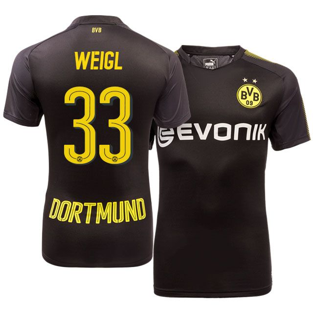 Borussia Dortmund Away Kit 17-18 weigl