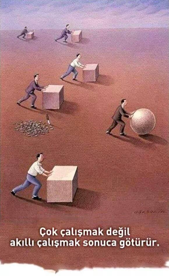 Çok çalışmak değil akıllı çalışmak sonuca götürür.
