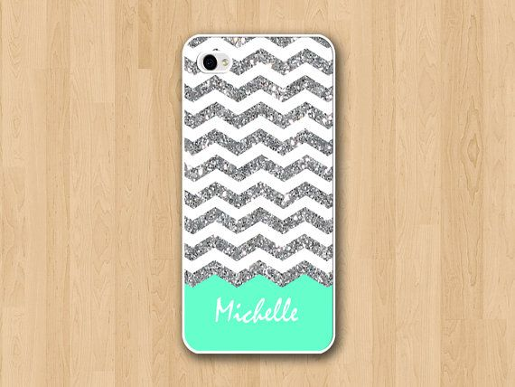 Glitter chevron iphone 5 case iphone 5S case by MinigramDesign, $12.99--wish they had them for a Galaxy S3