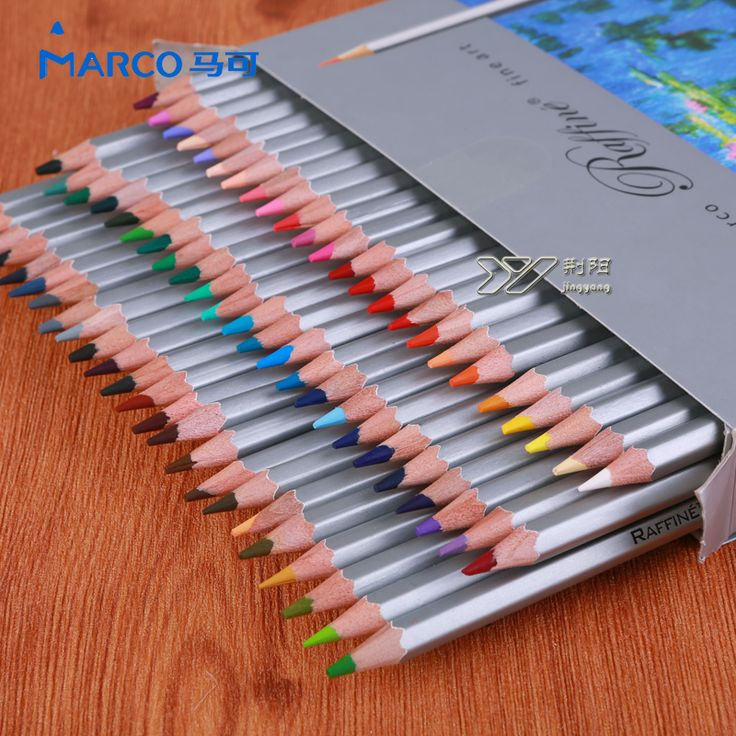 Marco 7100  oily  colored pencils 24/36/48/72 colors  professional art  supplies