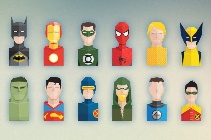 The geek in me absolutely loves this set of Superhero icons. Completely available for edit through both PSD and AI format. To infinity and beyond!