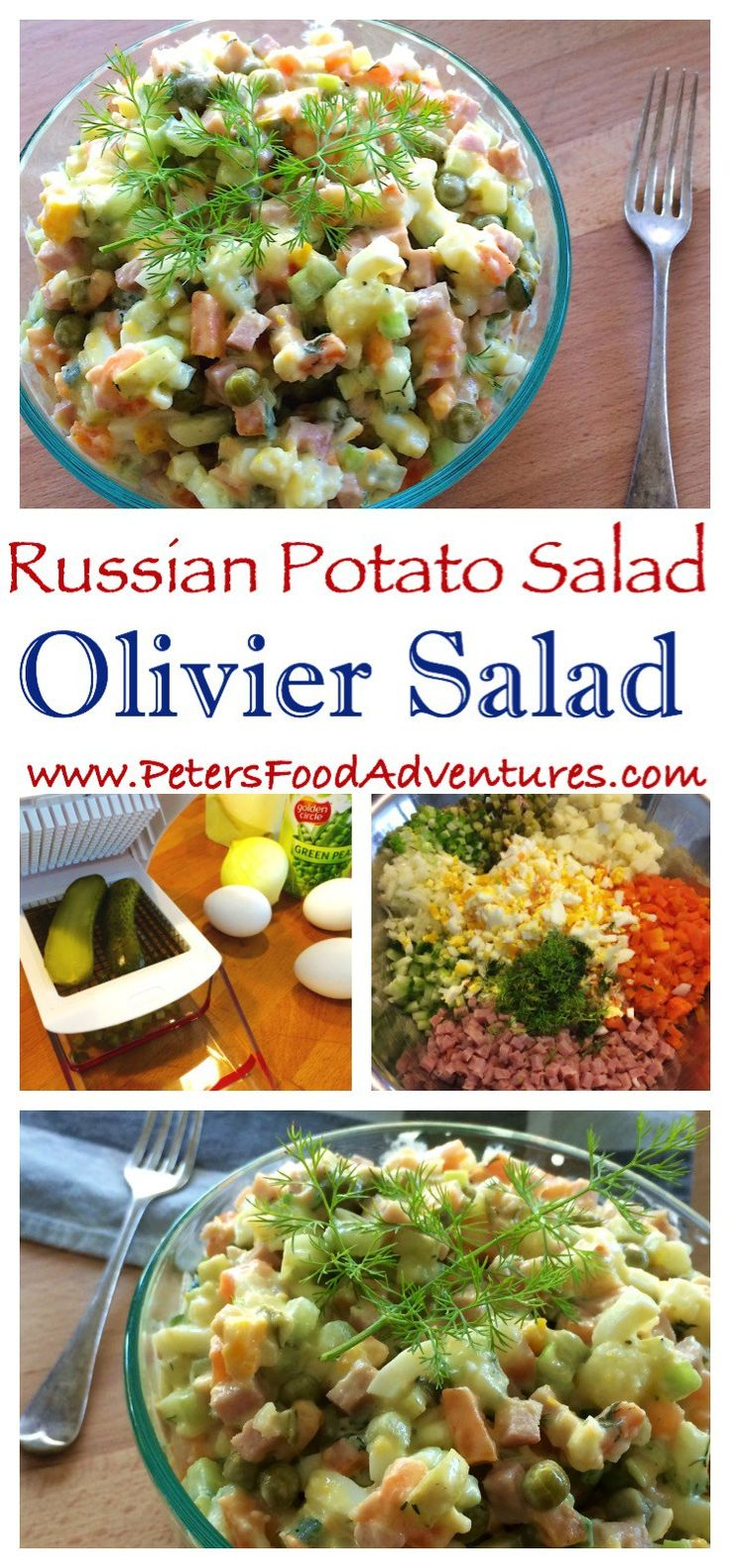 potato salad with russian potato salad or olivier or russian salad