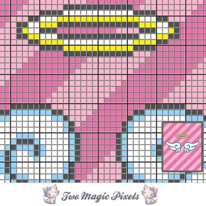 Angel Wings crochet graph (C2C, Mini C2C, SC, HDC, DC, TSS), cross