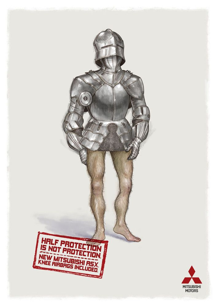 Mitsubishi ASX Knee Airbags: Half protection is not protection. (Armor)