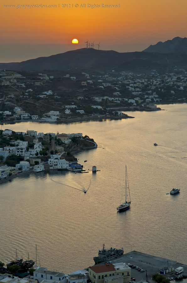 Agia Marina sunset, Leros, Greece