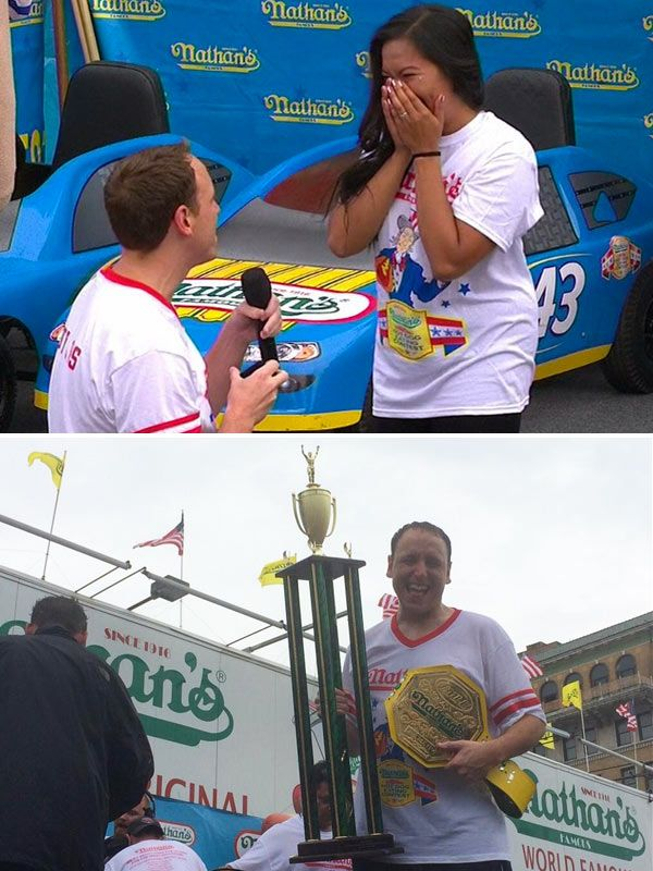 Joey Chestnut Wins Nathan%u2019s Hot Dog Eating Contest, Proposes To�Girlfriend