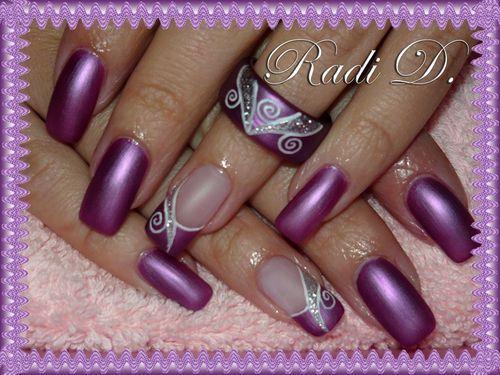 Nail Art With Purple Color Nailarts Ideas