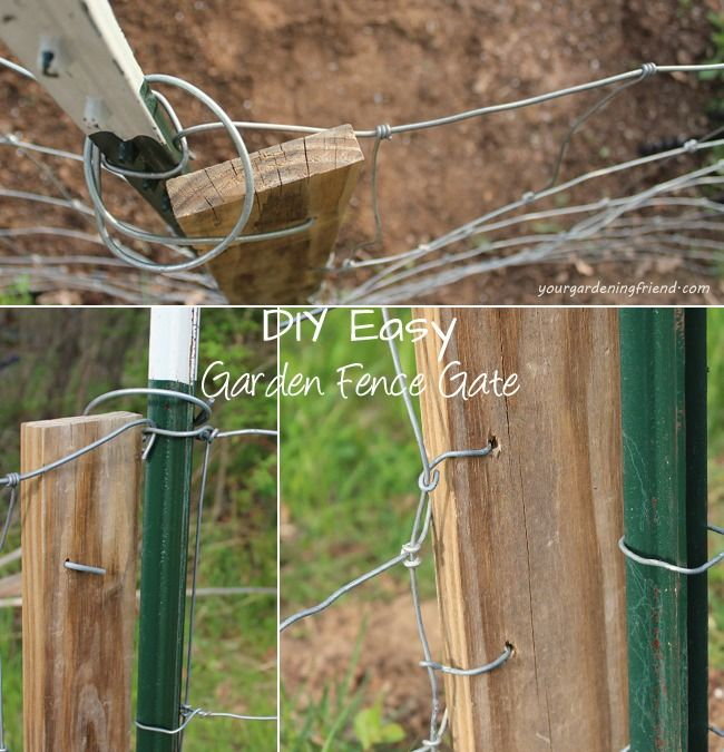 Make Your Own Garden Fence Gate With Repurposed Or Cheap