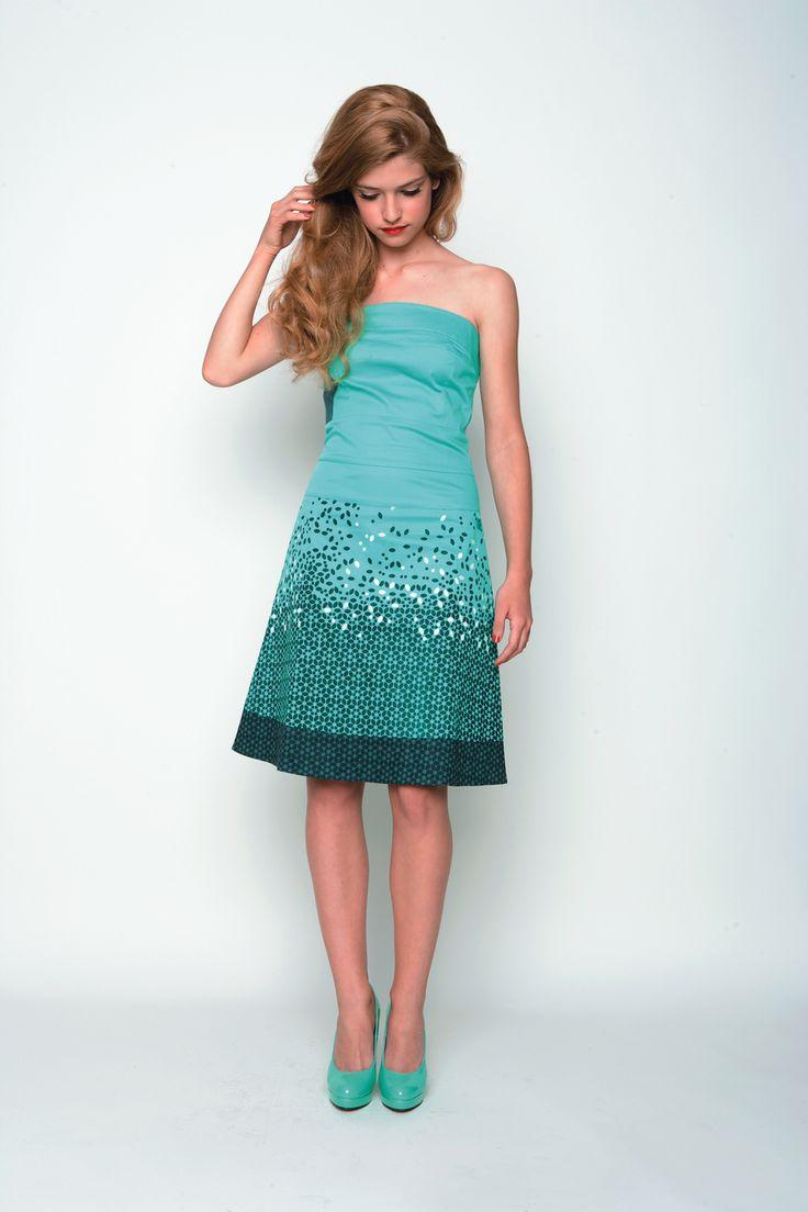 ATXA-024 SKUNKFUNK women's dress season: spring summer 13 fabric content: 97% organic cotton + 3% elastane color: green price: $139.00