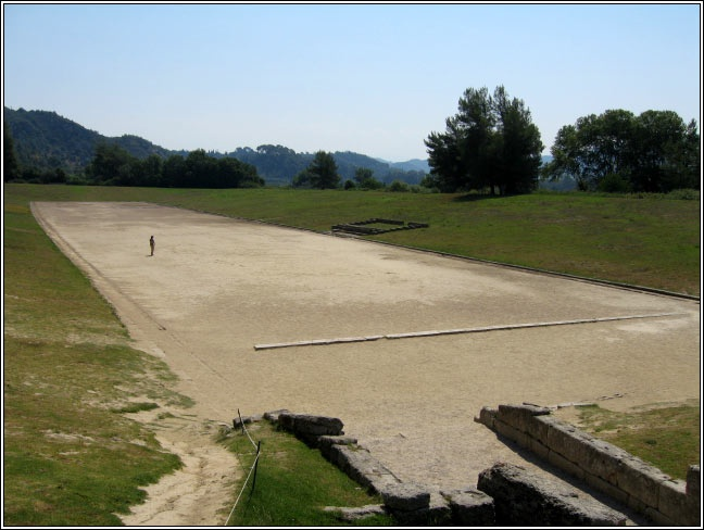 Track in Ancient Olympia, Greece