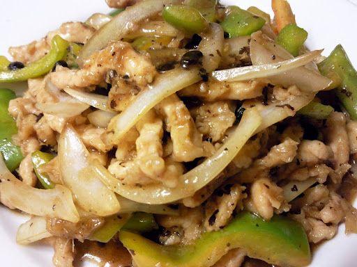 Pork with Green Pepper in Black Bean Sauce | Свинина с зеленым перцем в соусе из черных бобов (青椒肉絲)
