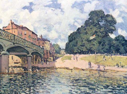 impressionism-art-blog: His atSuresne via Alfred SisleySize:...
