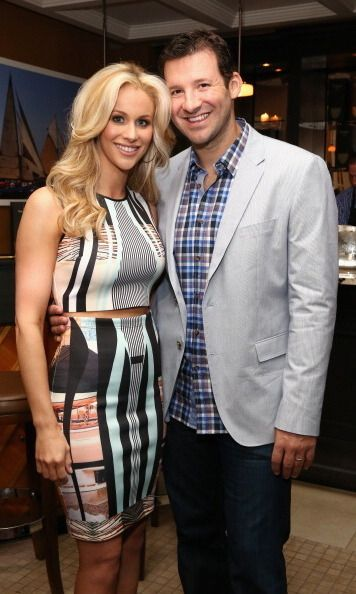 Tony Romo and Candice Crawford  The reporter and the Dallas Cowboys quaterback tied the knot in 2011. They are parents to Hawkins and Rivers.