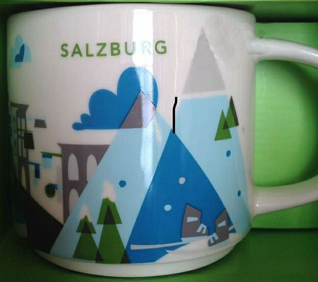 "Salzburg - ""You Are Here"" Starbucks Mug"