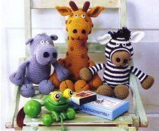 Трое друзей | Вязание для детей | Вязание спицами и крючком. Схемы вязания.
