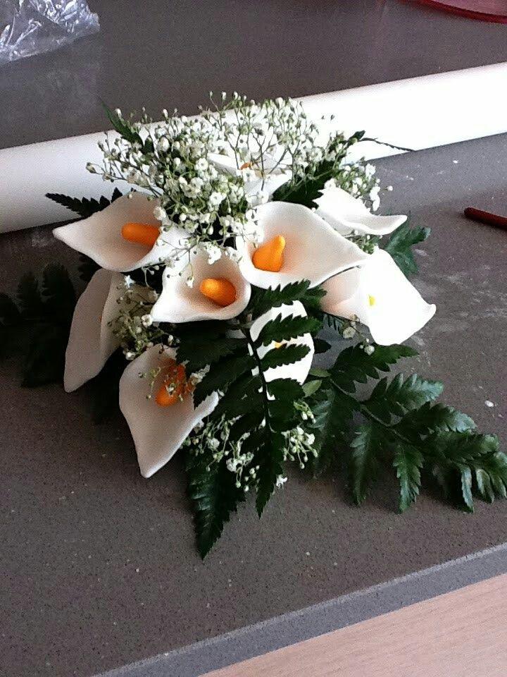 Para una boda...flores de azucar...