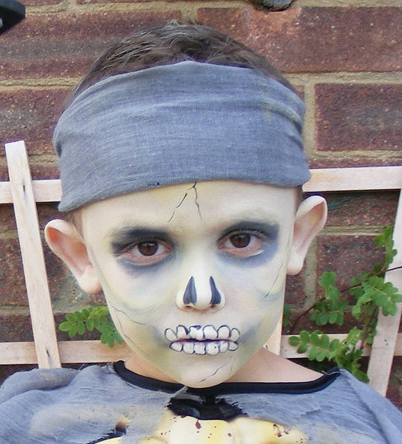 Face painting pirate ghost by jojos face painting via flickr