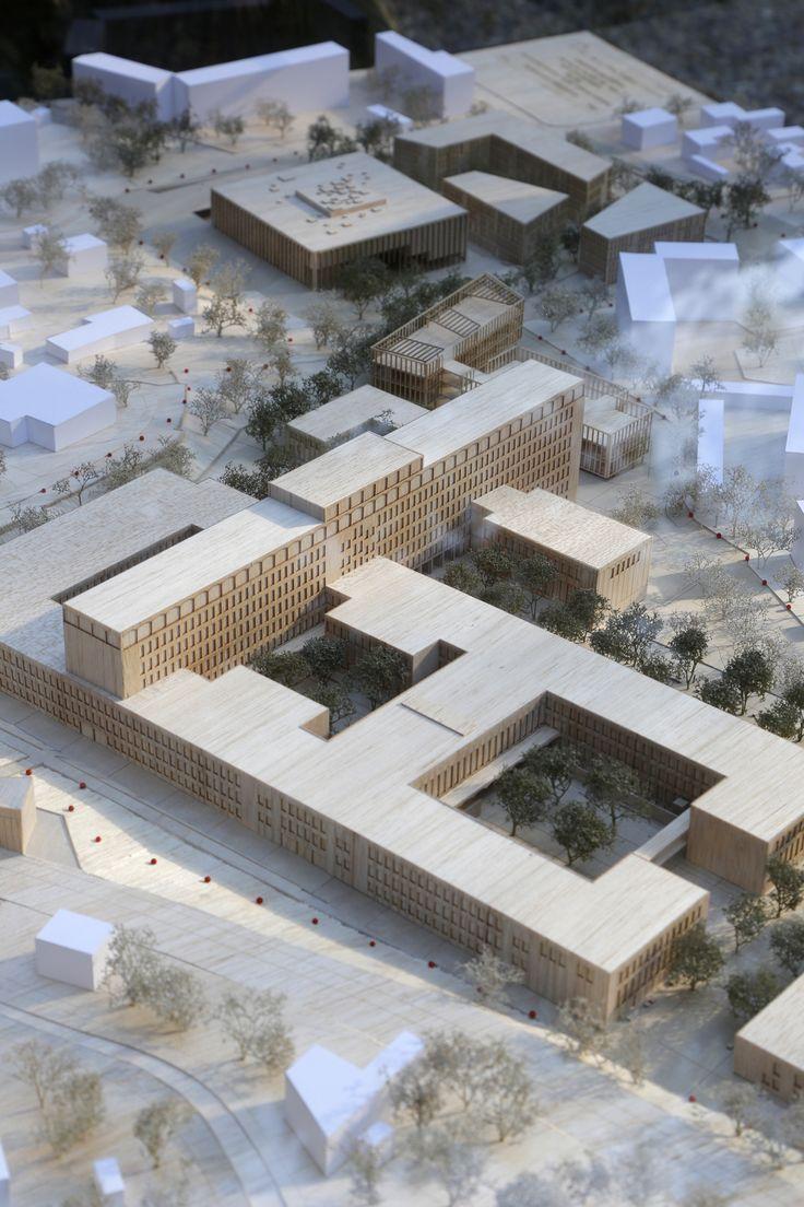 Maquette d 39 architecture plan campus aix en provence for Maquette d architecture