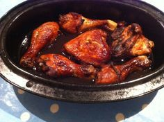 Slimming workd Sticky chicken. Really easy to make and tastes really good. I used diced chicken and served with rice.