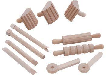 Wooden Dough Tools – Set of 12 - Modelling Tools