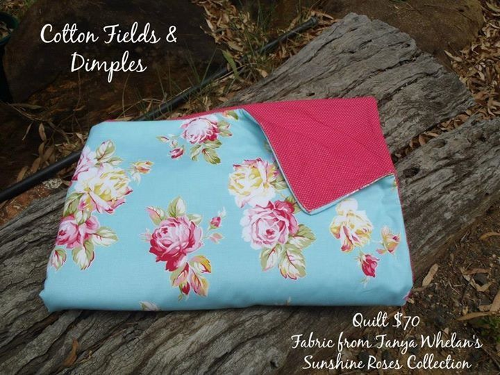 Pretty and pink cot quilt $70. #baby #nursery #girl #nursery decor #bedding #handmade