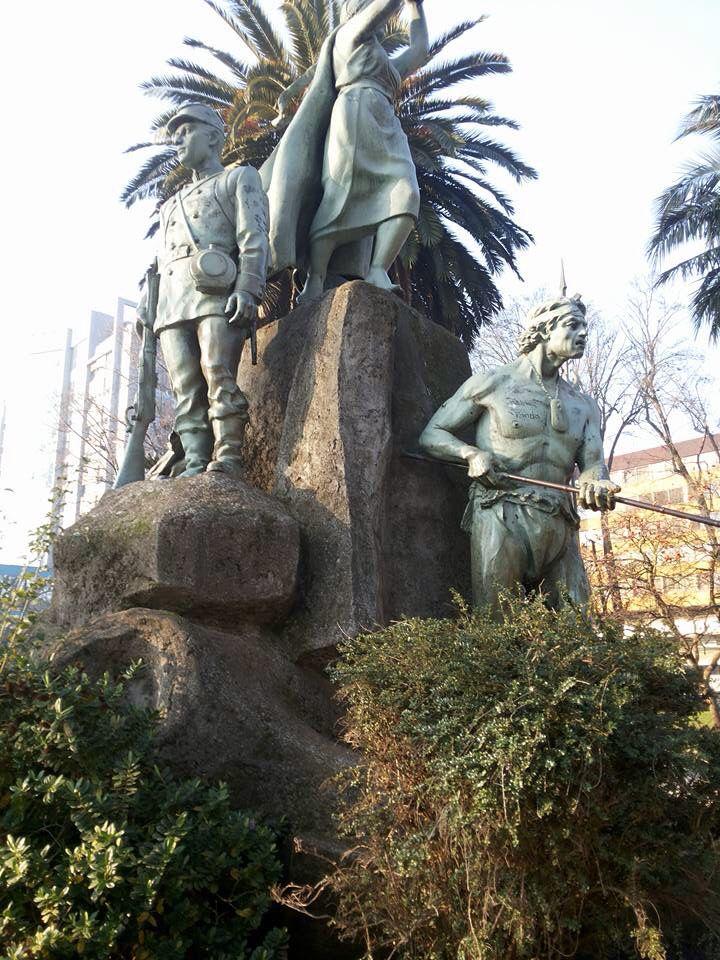 Plaza de Armas de Temuco, Región de la Araucanía.