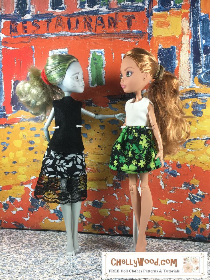 free printable sewing patterns for monster high st paddys day skirt chellywoodcom