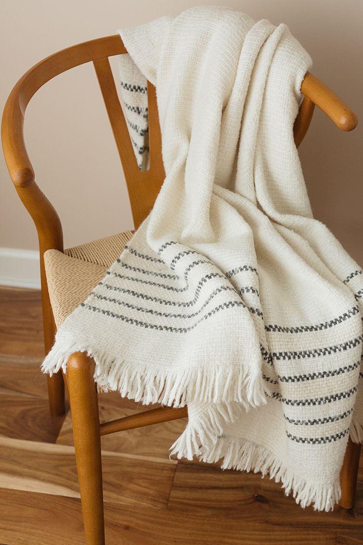 Parker Baby Alpaca Blanket / Hans Wegner Chair
