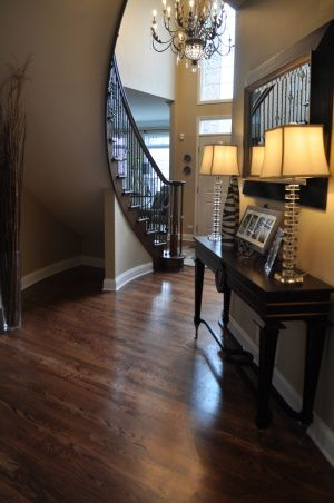 REFINISH your floors!!!, We used to have natural stained red oak floors.  We decided to finally to take the plunge and go dark after the flo...