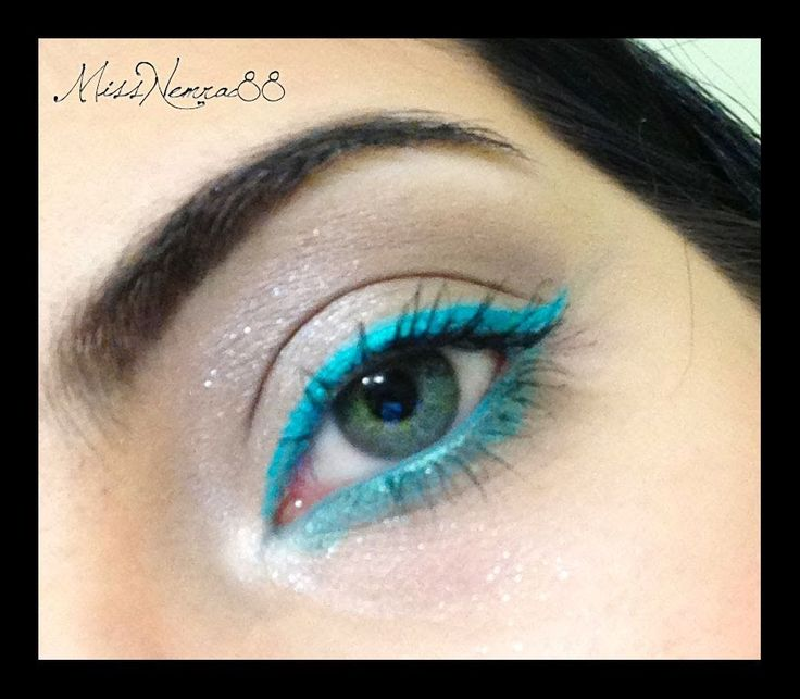 makeup luminoso - eyeliner verde acqua (teal makeup tutorial) (+playlist)