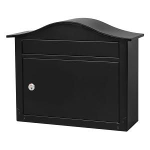 Architectural Mailboxes Saratoga Wall-Mount Lockable Mailbox in Black-2550B-10 at The Home Depot