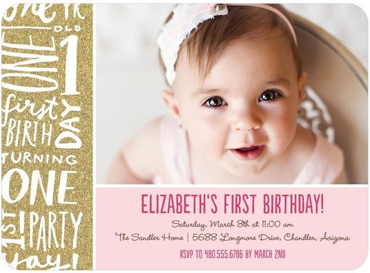215 best Babys First Birthday images – Little Girl Party Invitations