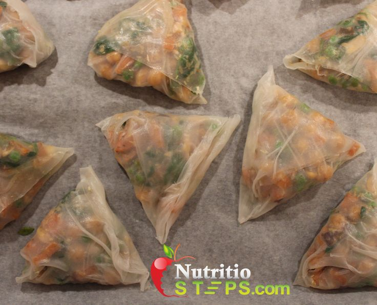 HEALTHY RICE PAPER VEGETARIAN INDIAN INSPIRED SAMOSA'S
