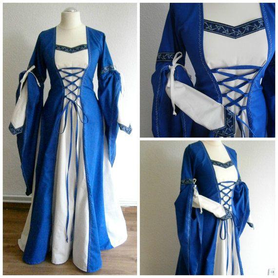 Size M/L Medieval Gown Renaissance Dress LARP от CadwaladrCostumes