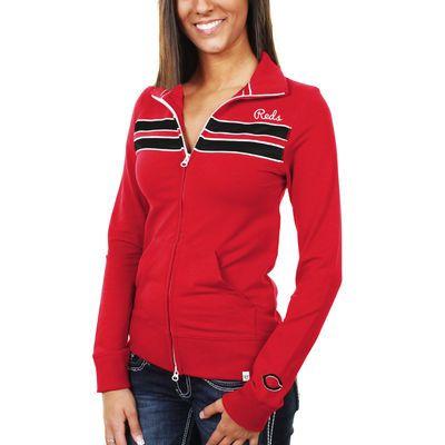 '47 Brand Cincinnati Reds Women's Training Day Track Jacket - Red