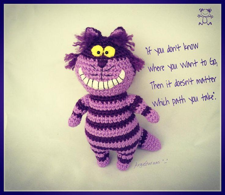 Cheshire Cat Amigurumi : _ Cheshire Cat! #angiegurumi #angiegurumiworkshop # ...