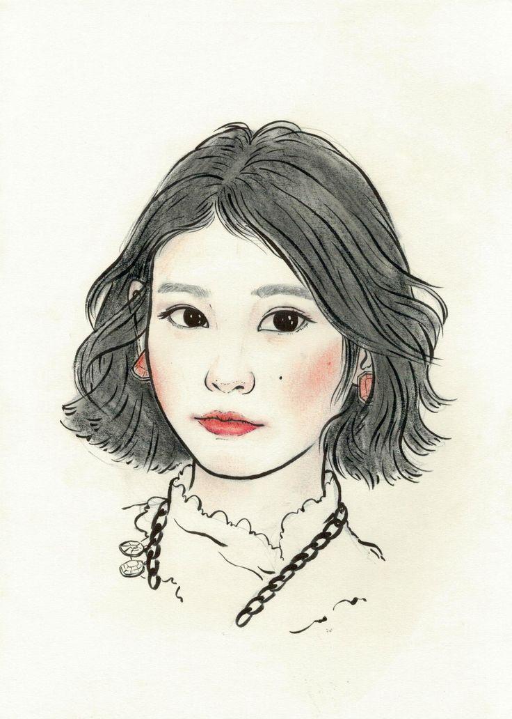 창작자들의 놀이터 : 그라폴리오 #일러스트 #일러스트레이션 #illust #illustration #초상화 #portrait #아이유 #iu