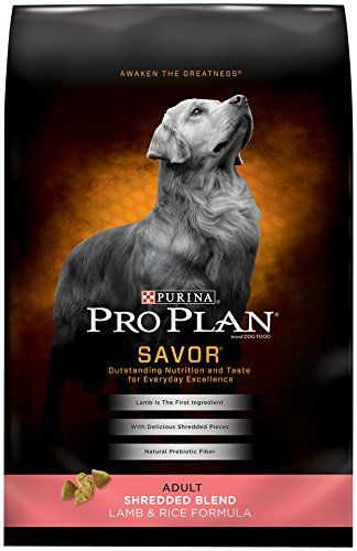 Purina Pro Plan SAVOR Adult Shredded Blend Lamb & Rice Formula Dry Dog Food - (1) 35 lb. Bag - Help see to it that your dog keeps achieving his own level of greatness when you feed him Purina Pro Plan SAVOR Shredded Blend Lamb & Rice Formula adult dry dog food each day. With real lamb as the #1 ingredient, this formula helps deliver the outstanding nutrition your dog needs for everyday exc...