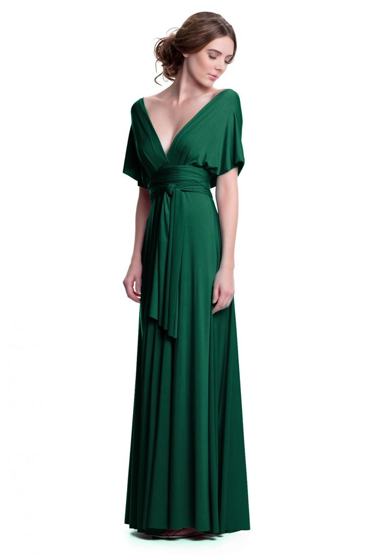 Sakura Emerald Green Maxi Convertible Dress - Maxi Dress - Convertible Dresses - Shop ConvertiStyle