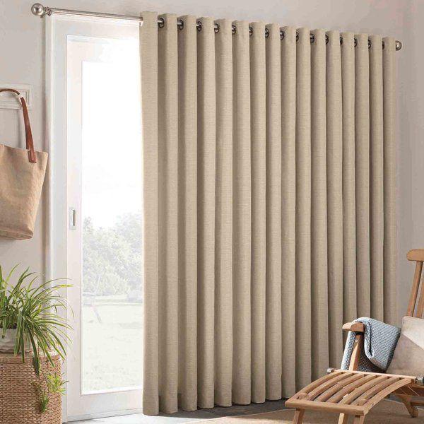 Key Largo Solid Semi Sheer Grommet Single Curtain Panel Curtains