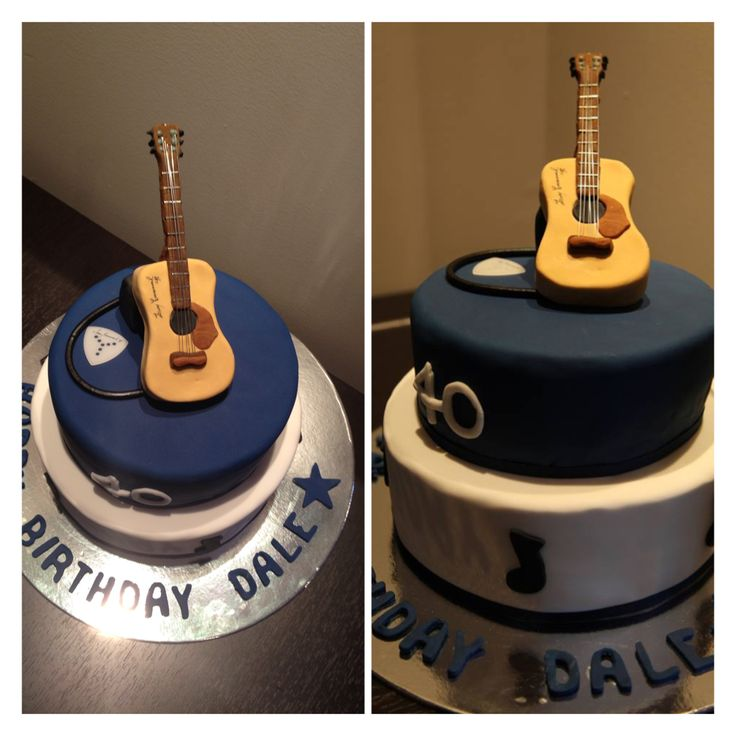 Guitar cake for Dale's 40th