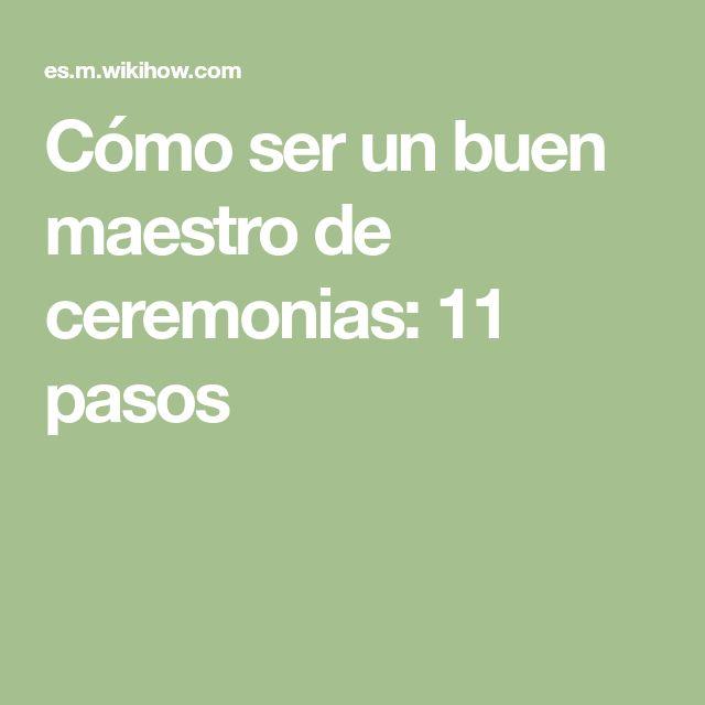 13 best Maestra de ceremonias images on Pinterest | Ceremonias, Cómo ...
