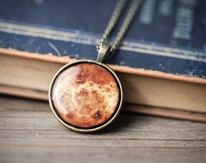 Planet Necklace - Venus - Autumn jewelry (N090). $23.00, via Etsy.