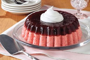 Layered Low-Fat Cranberry Mousse Mold