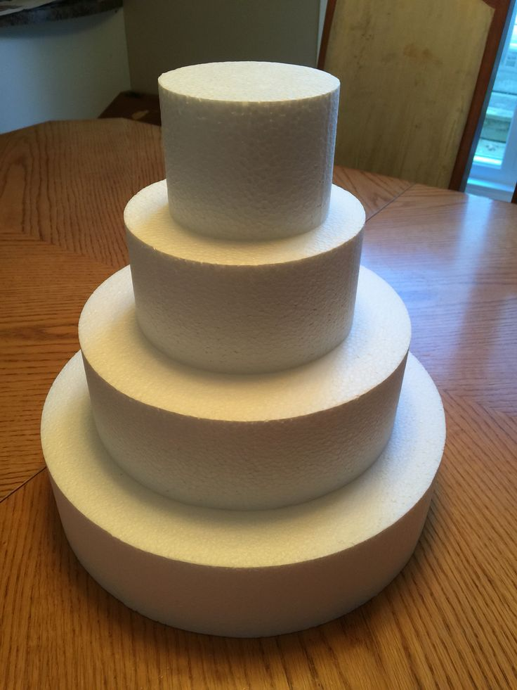 Fake wedding cake styrofoam layers