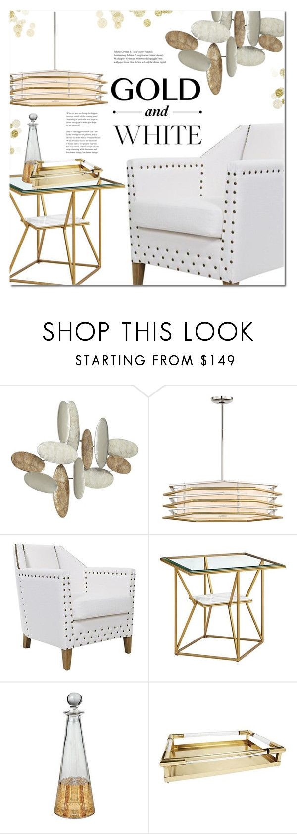 """""""Gold and white"""" by paculi ❤ liked on Polyvore featuring George Kovacs by Minka, Home and decor"""