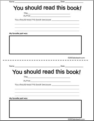"Would be great to have a supply of these on hand; once completed you could gather them for the next time one of the kids says, ""I want a good book."""